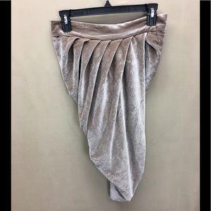NWT Naked Wardrobe Taupe Wrap Drape Velvet Skirt
